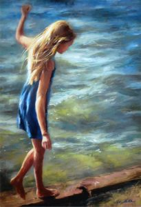 """By the Water's Edge,"" a pastel by Erica Hutch, was 2015 Best in Show Award winner."