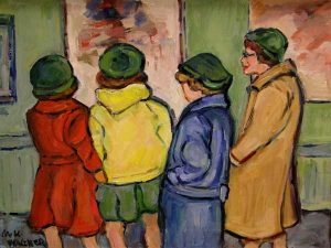 """The Critics,"" an oil painting by M. Kathleen Wagner, won Best of Show."