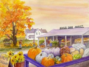 """""""Gentles on My Mind,"""" a watercolor by Kathy Lindsley, won the Penfield Scene and Legacy Residents Choice awards in 2015."""