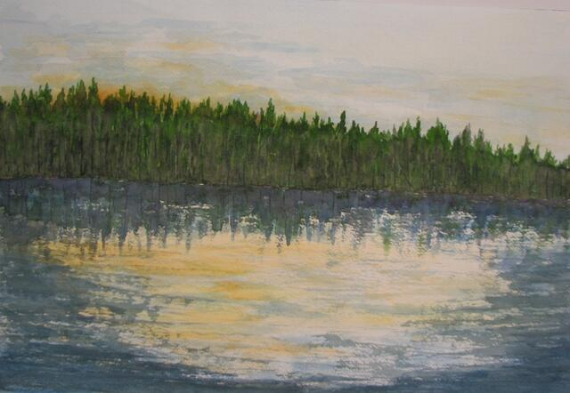 "Dusk, Rollins Pond"" by Doug Bloom"