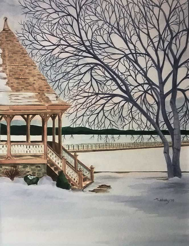 """Frozen Skaneateles"" by Marilyn Nosky"