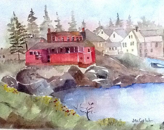 """Monhegan Island in the Mist, Maine"" by Joey McCall"