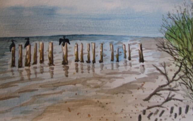 """""""Old Estero Pier"""" by Doug Bloom"""
