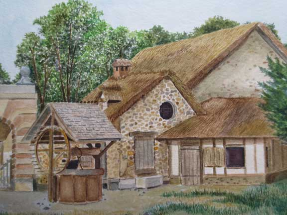 """Versailles Peasant Village"" by Marilyn Nosky"