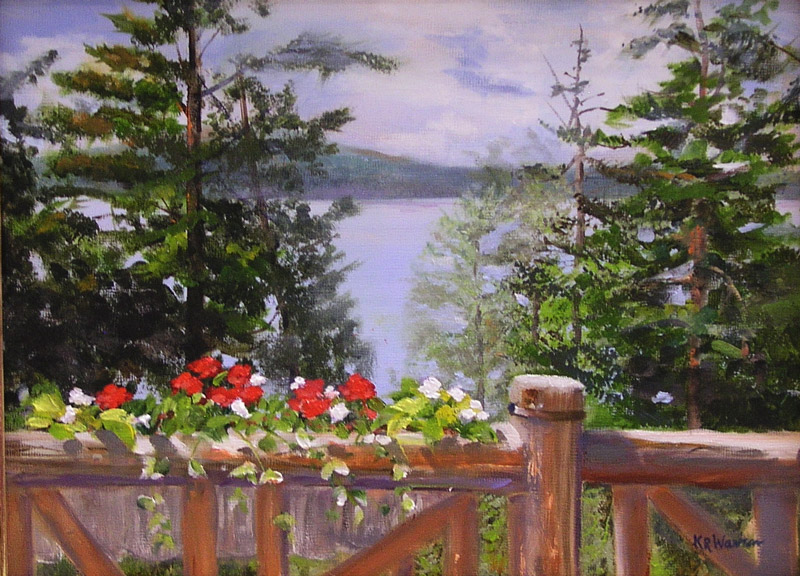"""""""Adirondack View from the Balcony"""" by Kathy Warren"""
