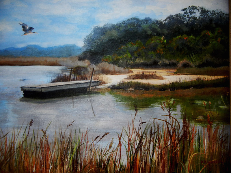 """Barrier Island Waterway"" by Kathy Warren"
