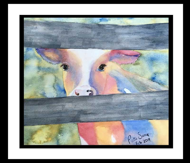 """""""Colorful Country Cow"""" by Patti Same"""