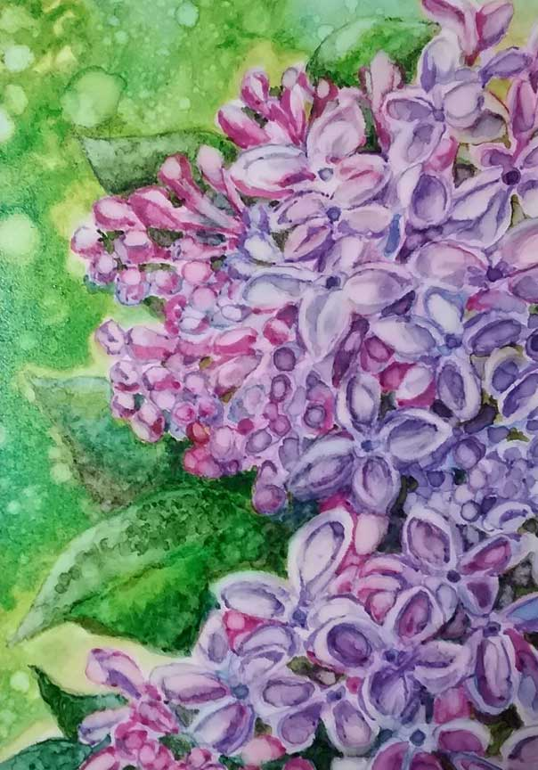 """""""Lilacs"""" by Marilyn Nosky"""