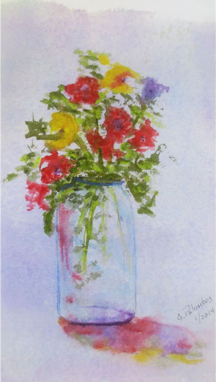 """""""Flowers in a jar"""" by Ginny Palumbos"""