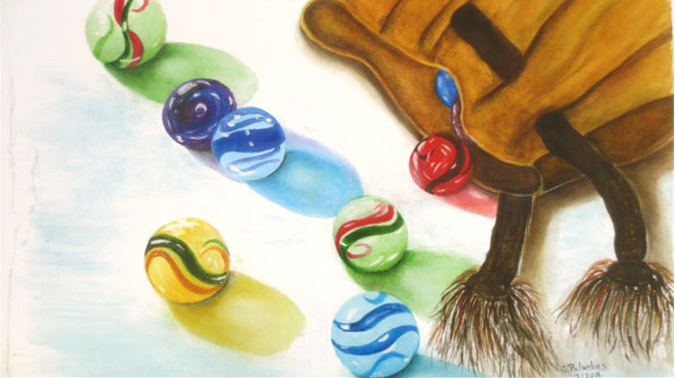 """""""Getting Ready to Play Marbles"""" by Ginny Palumbos"""