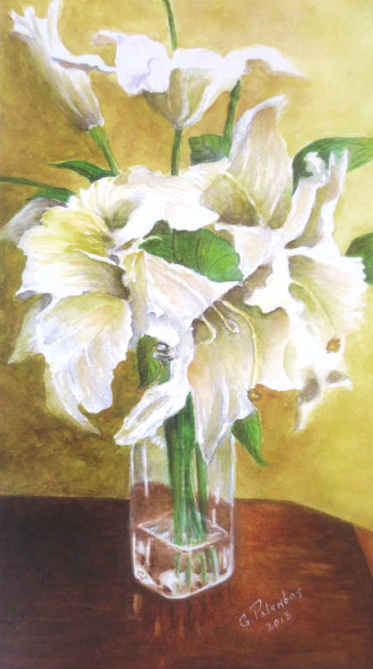 """Lilies on the table"" by Ginny Palumbos"