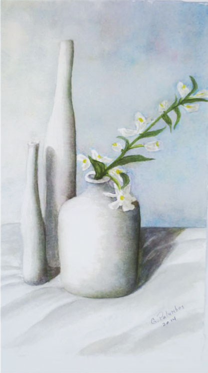 """White on white"" by Ginny Palumbos"