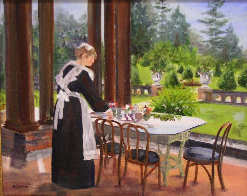 """Tea at Sonnenberg"" by Kathy Warren"