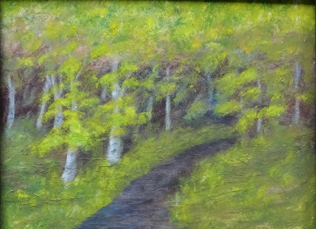 """""""Birches in Spring"""" by Bev Cronkite"""