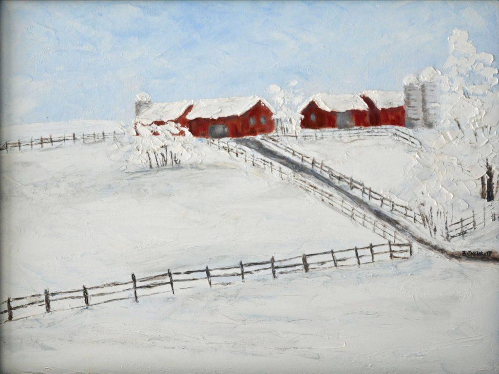 """""""Jens Farm in Winter"""" by Bev Cronkite"""