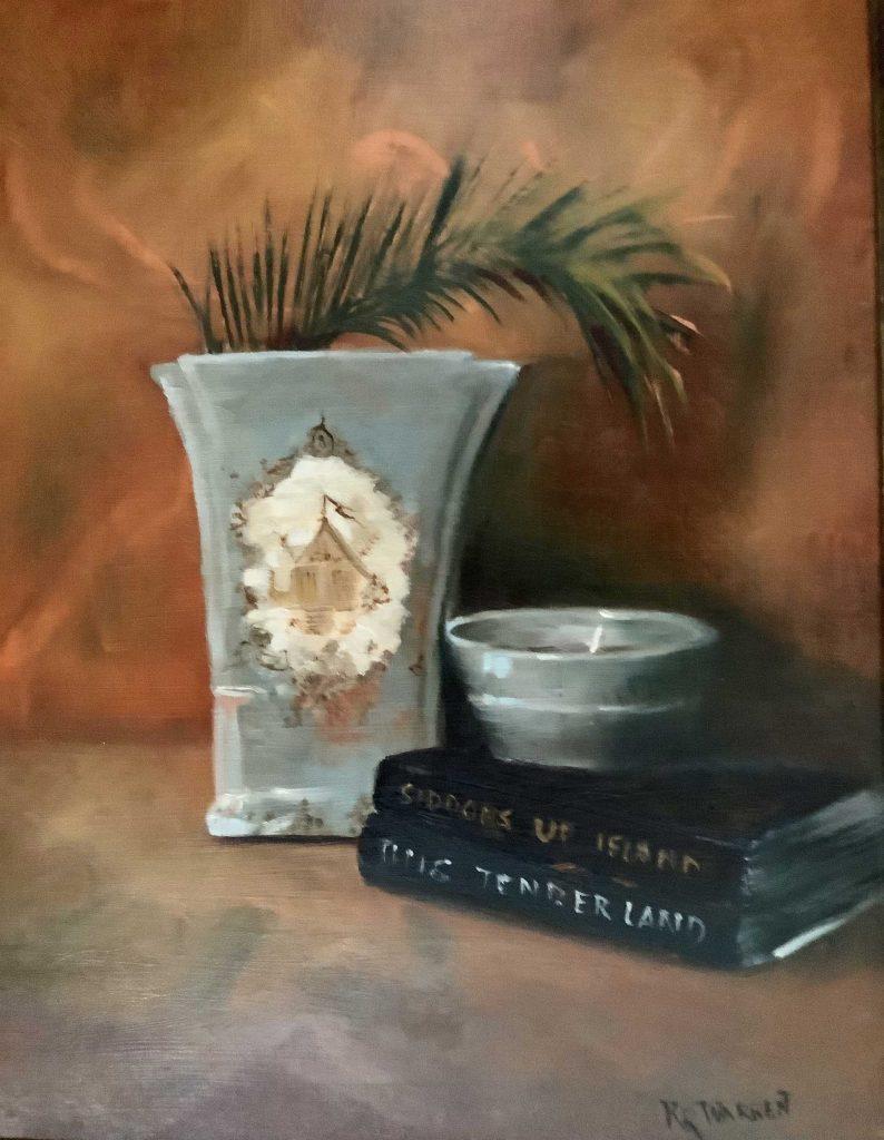 """""""Palm in Vase"""" by kathleen Warren"""