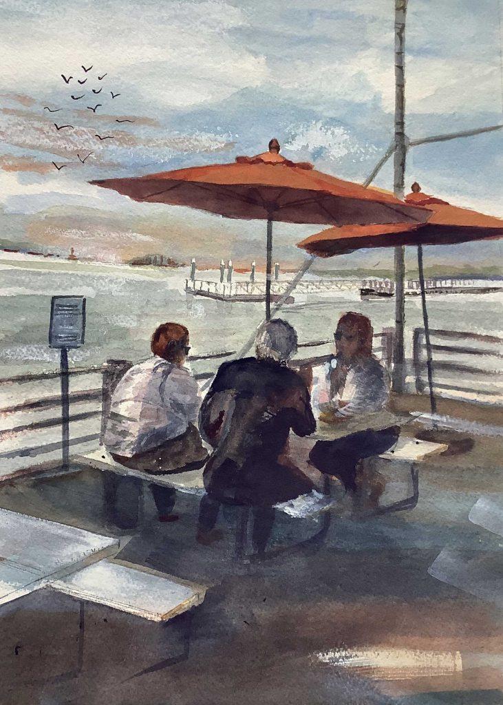 """""""Umbrella Lunch"""" by Kathleen Warren"""