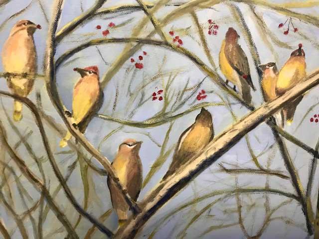 """Cedar Waxwings"" by Barbara Rice"