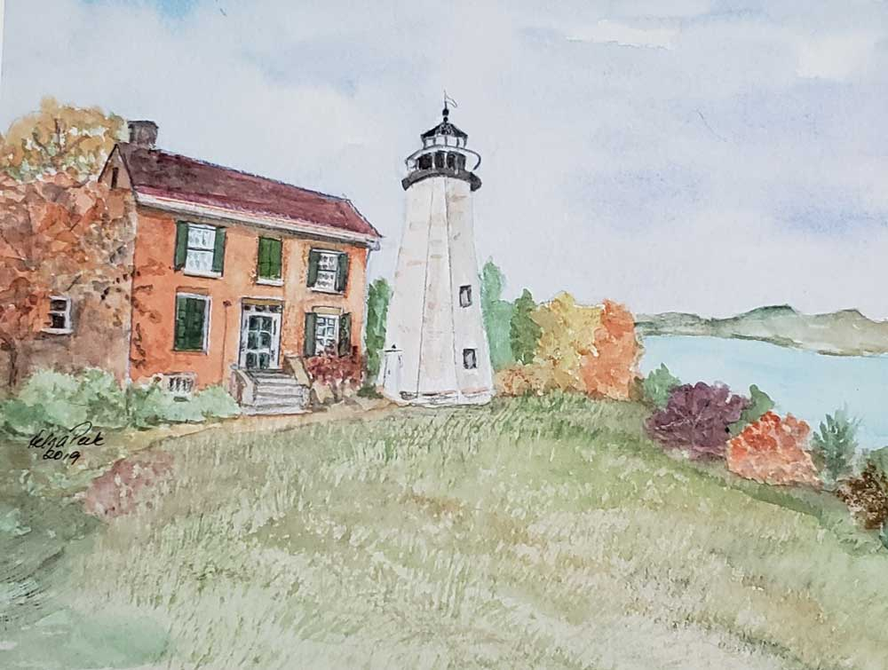 """Charlotte Lighthouse"" by Helga Peck"