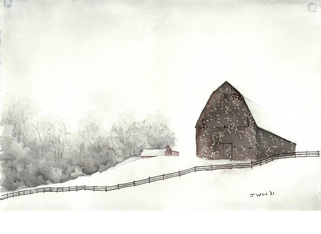 """""""Snow on the Farm"""" by John Heister"""