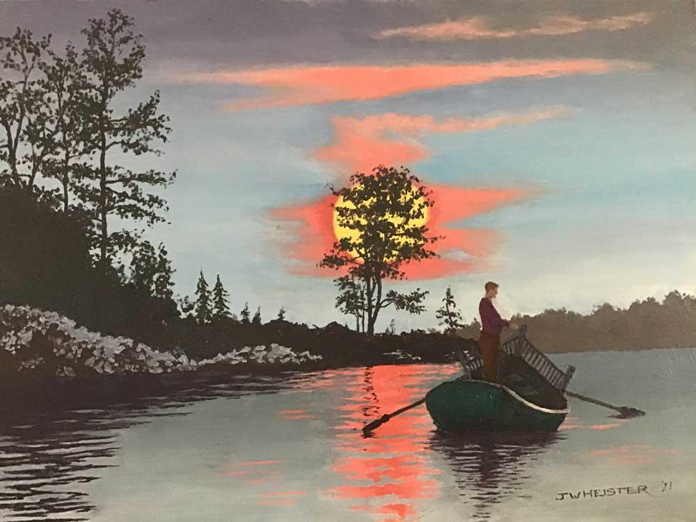 """Fishing by Moonlight"" by John Heister"