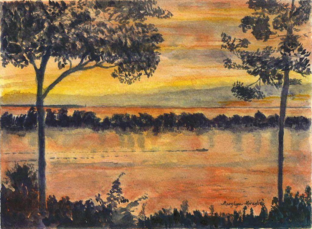 """Ontario Sunset in Orange"" by Mary Lynn Miraglia"