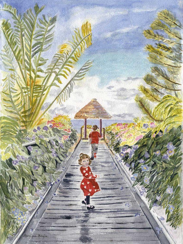 """""""Girl On Maderia Boardwalk"""" by Mary Lynn Miraglia"""