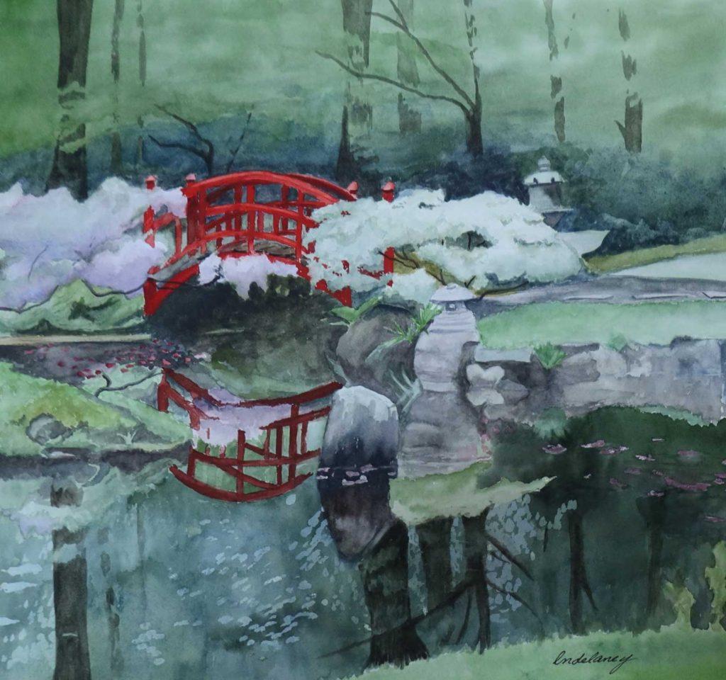 """Japanese Garden"" by Linda Delaney"