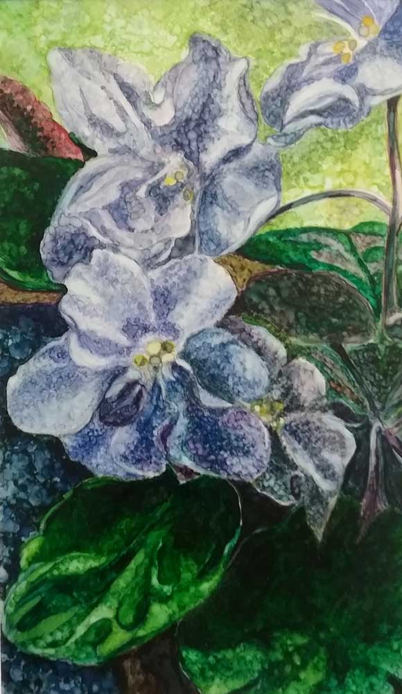 """""""African Violet Queen"""" by Marilyn Nosky"""
