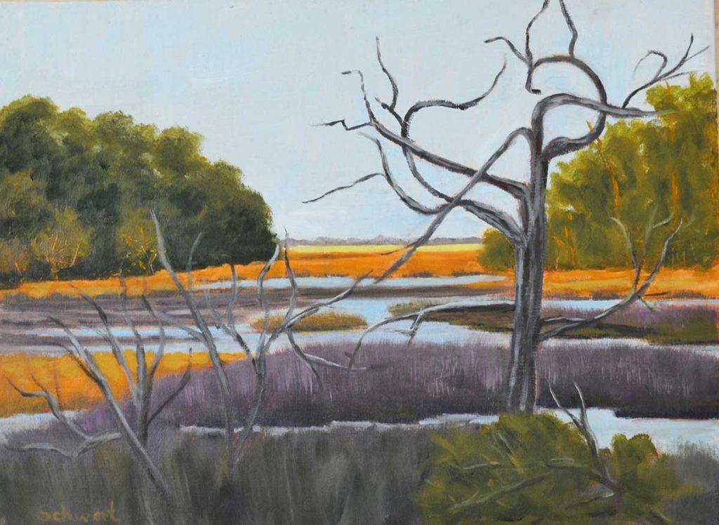 """""""Dead Tree Marsh"""" by Patricia Schwert"""