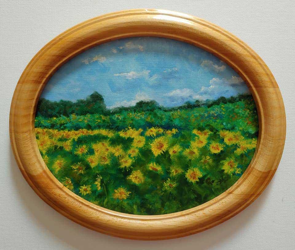 """Sunflowers at Wickham Farm"" by Pat Gough"