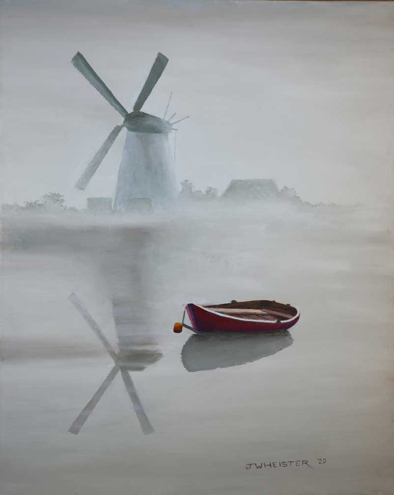 """""""Windmill at Rest"""" by John Heister"""
