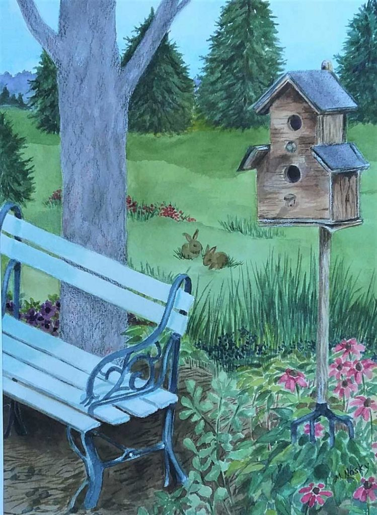 """""""Peabody Town House"""" by Marilyn Nosky"""