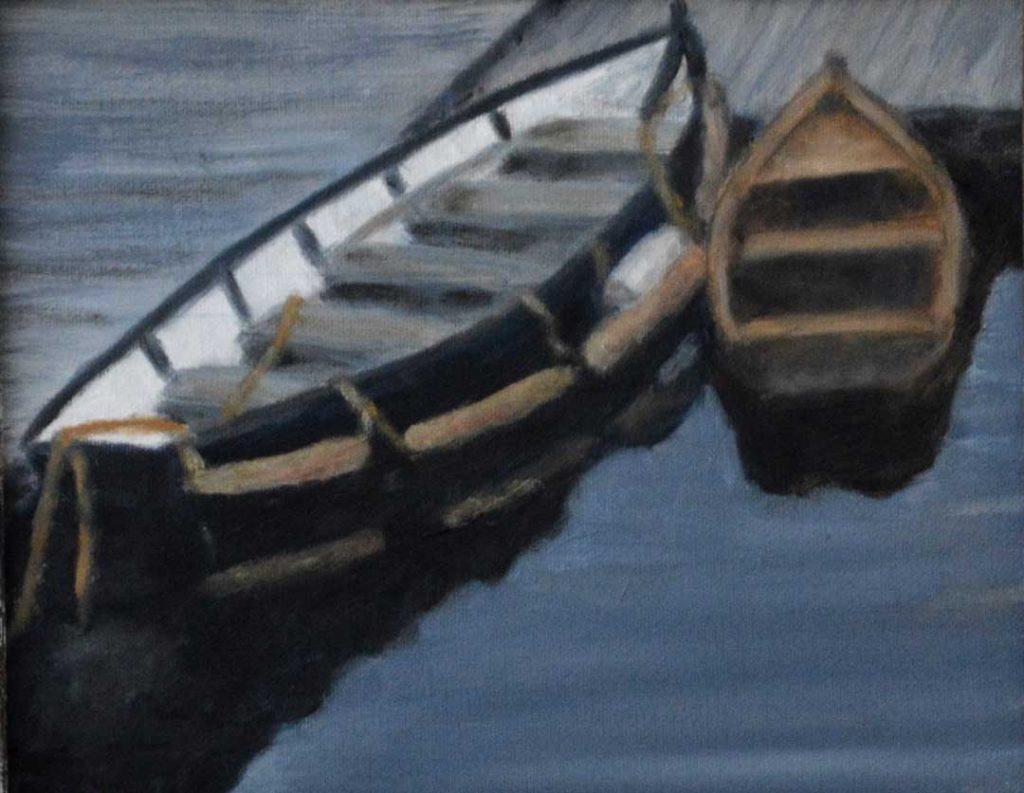 """""""Skiffs"""" by Bev Cronkite"""