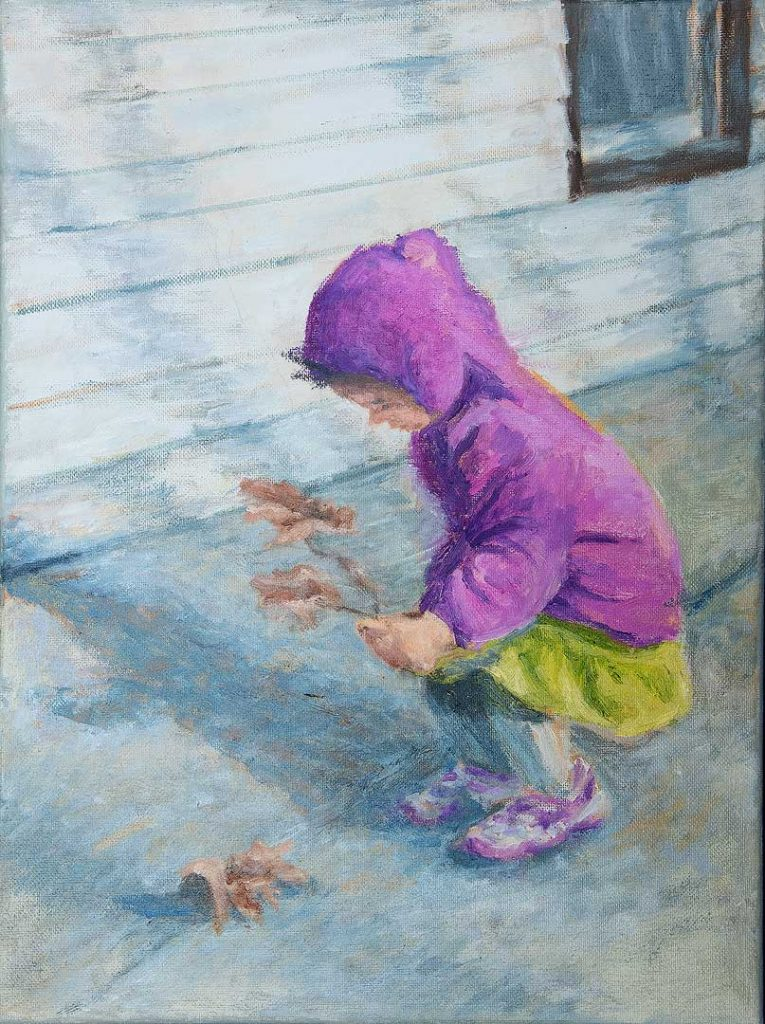 """""""Picking Leaf on Sunny Day"""" by Yeou-Jih Yang"""